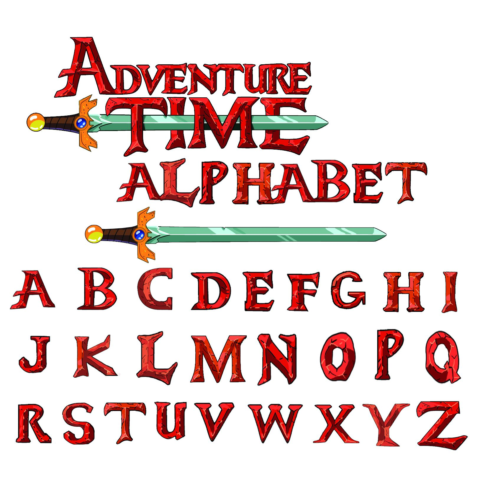 Adventure Time Free Font Alphabet By Ask Angelo On