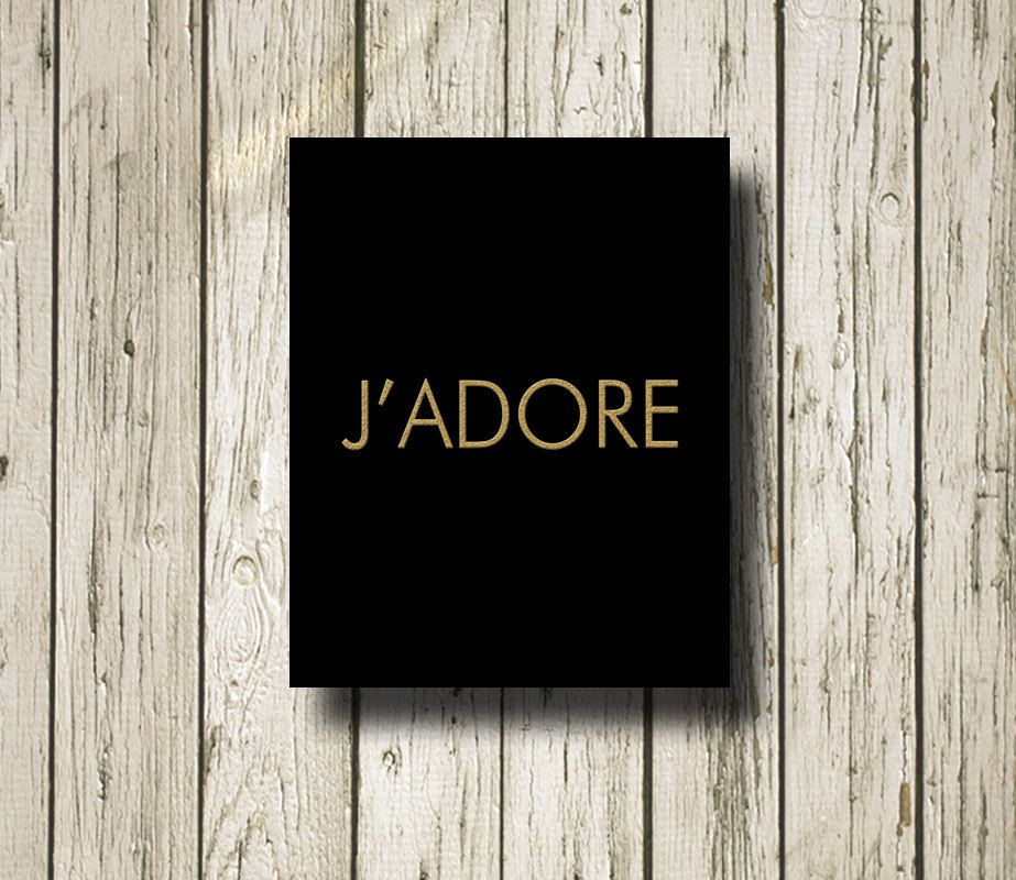 J'ADORE DIOR Golden Cool Print Poster Printable by WhimofGold