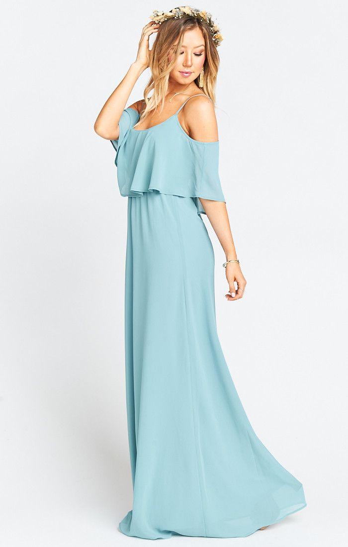 7d6381a0d08 Caitlin Ruffle Maxi Dress ~ Poolside Chiffon in 2019 | :: JUST ...