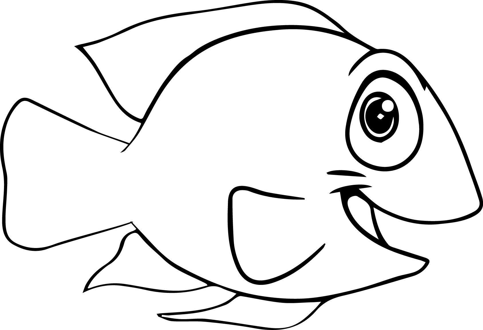 rainbow fish coloring pages Cute Fish Coloring Pages for