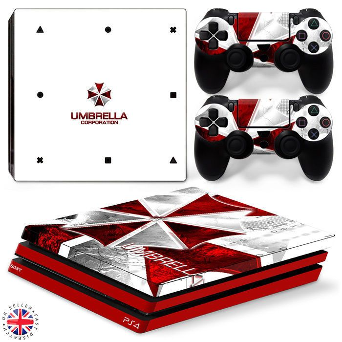 RESIDENT EVIL PS4 PRO Playstation 4 Wrap Skin Sticker