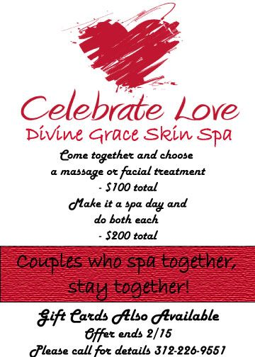 Valentines Spa Special Specials Salon Promotions Spa