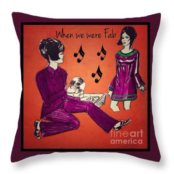 When We Were Fab 2 Throw Pillow by Joan-Violet Stretch