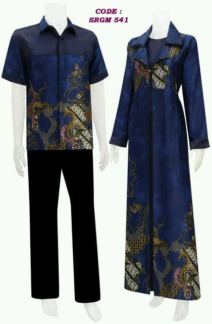 Busana batik modern model jubah code SRGM 54  2a4a55fcc6