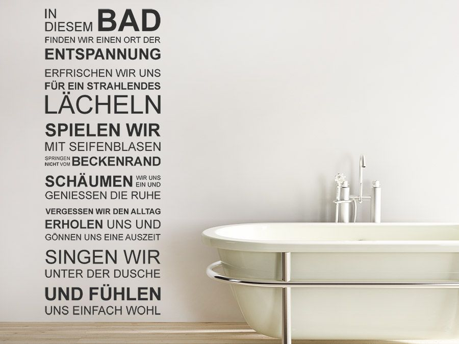 Delightful Wandtattoo In Diesem Bad Spruchbanner | WANDTATTOO.DE