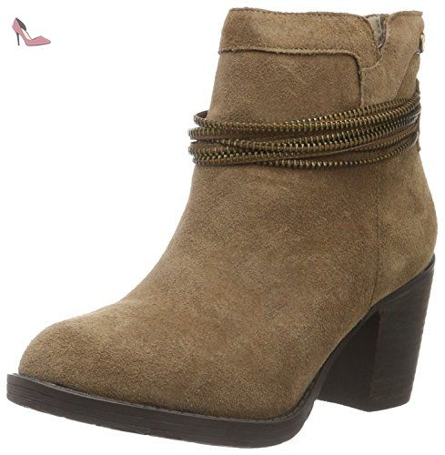 46181, Bottes Classiques Femme - Beige - Beige (Taupe), 38 EUHis