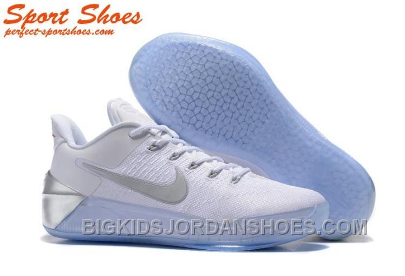 79a827713561 Nike Kobe A.D. Sneakers For Men Low White Silver New Style CQZDk ...