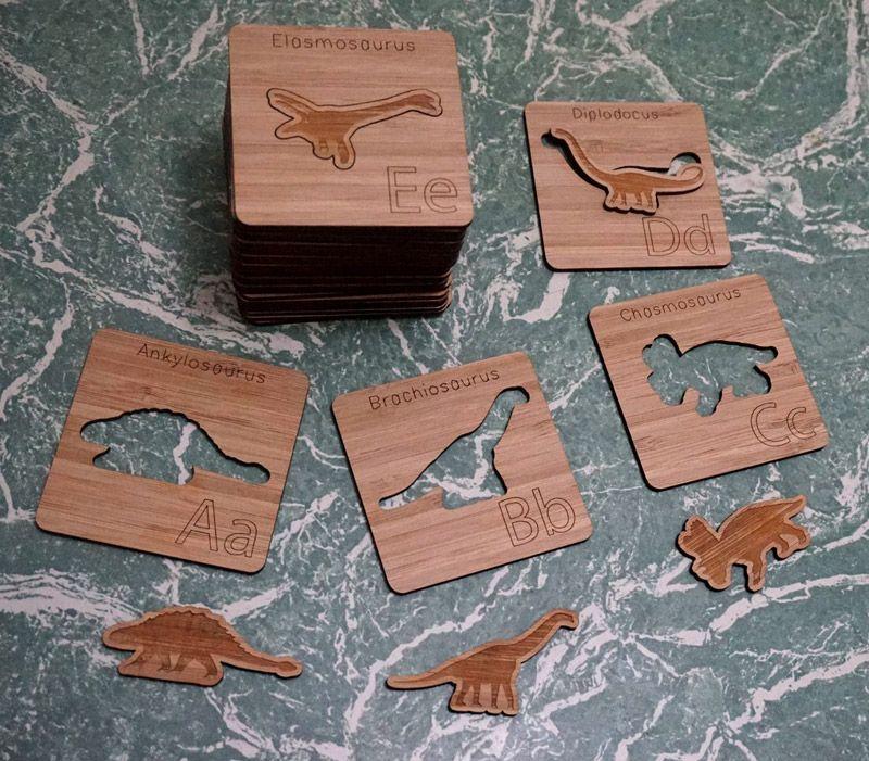 Bamboo dinosaur puzzles