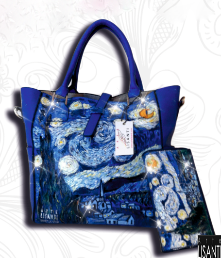 Hand painted, Starry Night by Van Gogh --  Dipinta a mano, Notte Stellata di Van Gogh