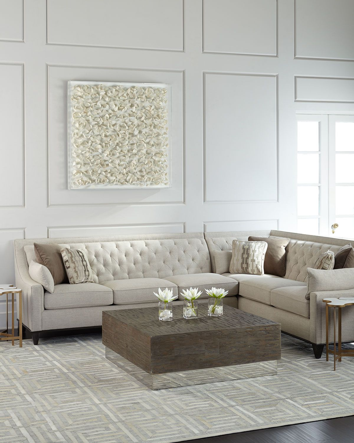 transitional style sectional sofas memory foam mattress for sofa bed uk linzie linen blurring