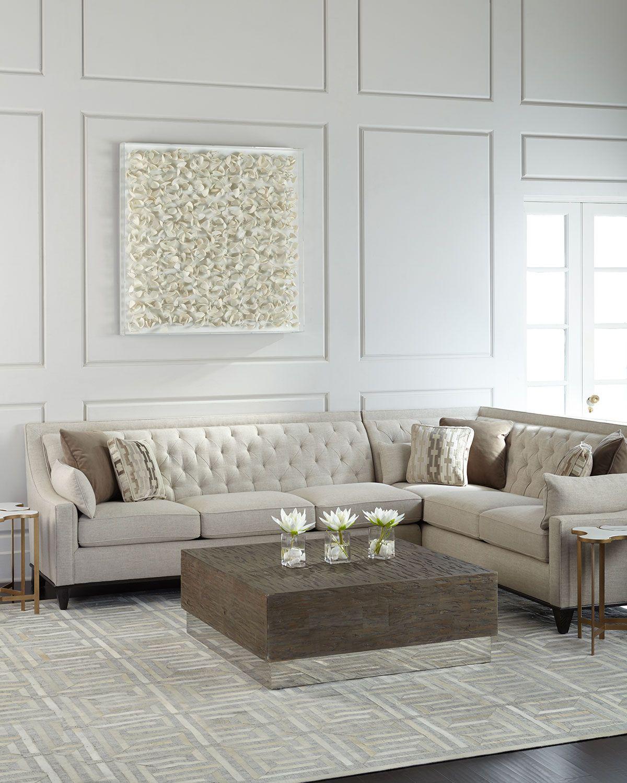 Linzie Linen Sectional Sofa Decoracao Sala