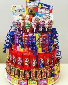 Large Birthday Surprise Candy Cake