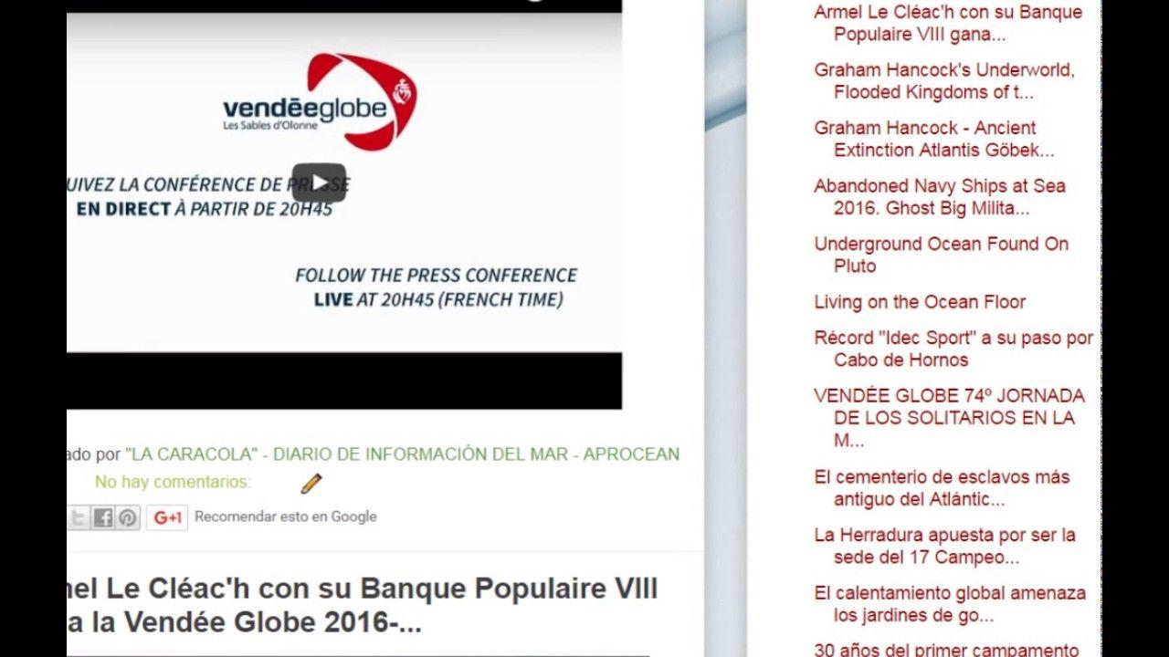 """20/01/17 10:04hs Boletín """"La Caracola"""" D.I.M. - Diario de Información del Mar Aprocean Blog http://aprocean.blogspot.com.es"""