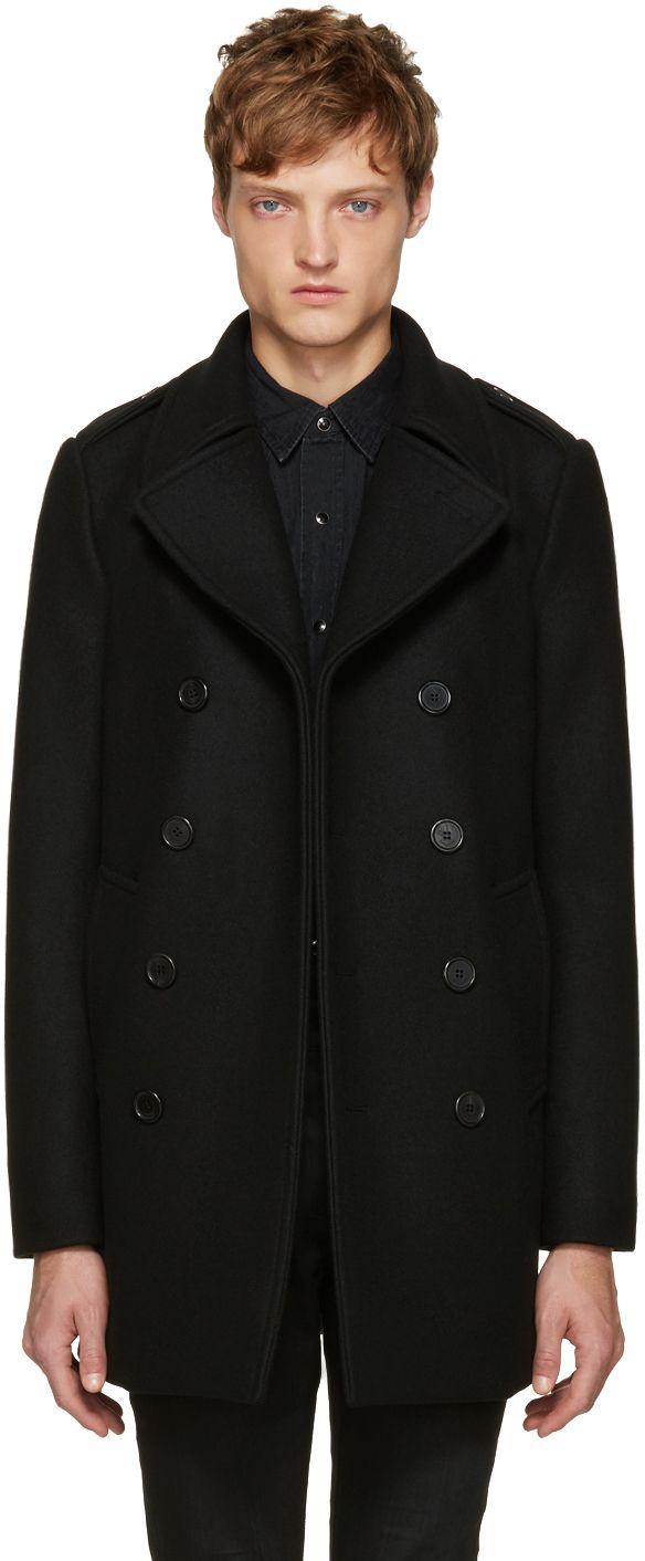 ec1f60f8a89 Hedi Slimane Exits Saint Laurent | Men's Coats | Black pea coats ...