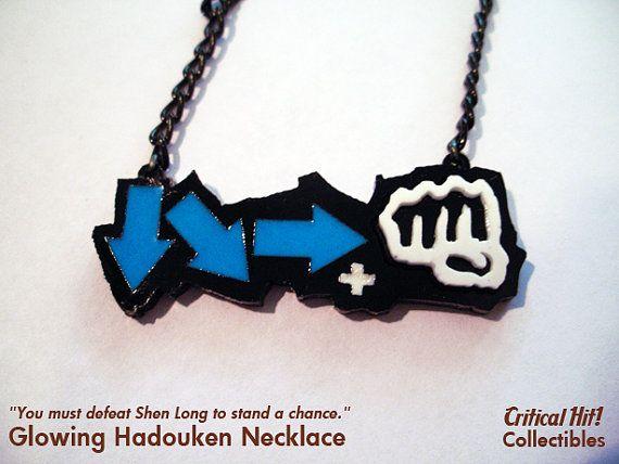 Glowing Hadouken Necklace  video game jewelry par CriticalHitShop, $14,00