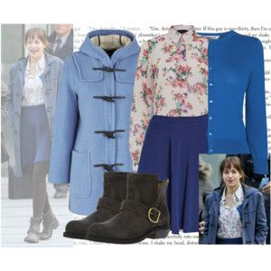 Anastasia Steele\u0027s Interview Outfit? , Fifty Shades of Grey , The Filming