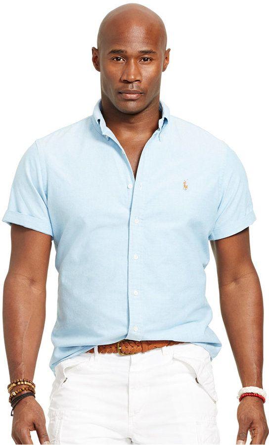 17097e10d Polo Ralph Lauren Big and Tall Short-Sleeved Oxford Shirt