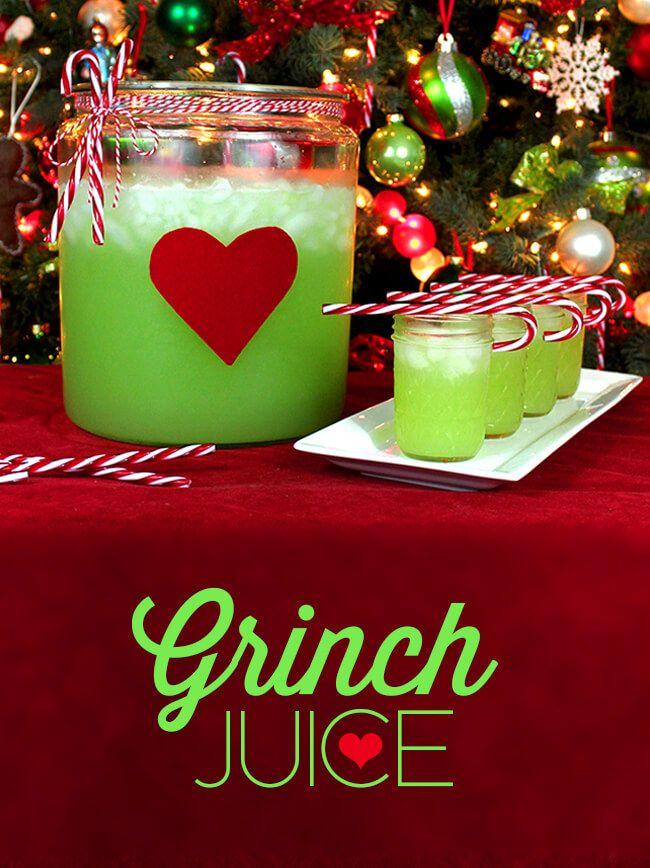Christmas Grinch Juice Recipe #grinchpunchrecipe