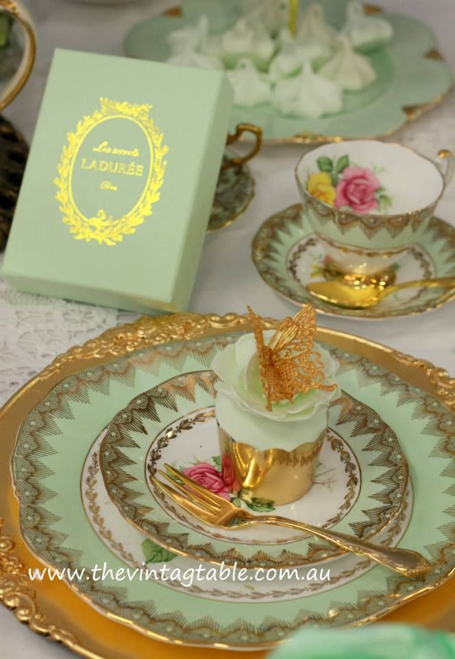 place setting, table setting, tablescape, Marie Antoinette High Tea ...