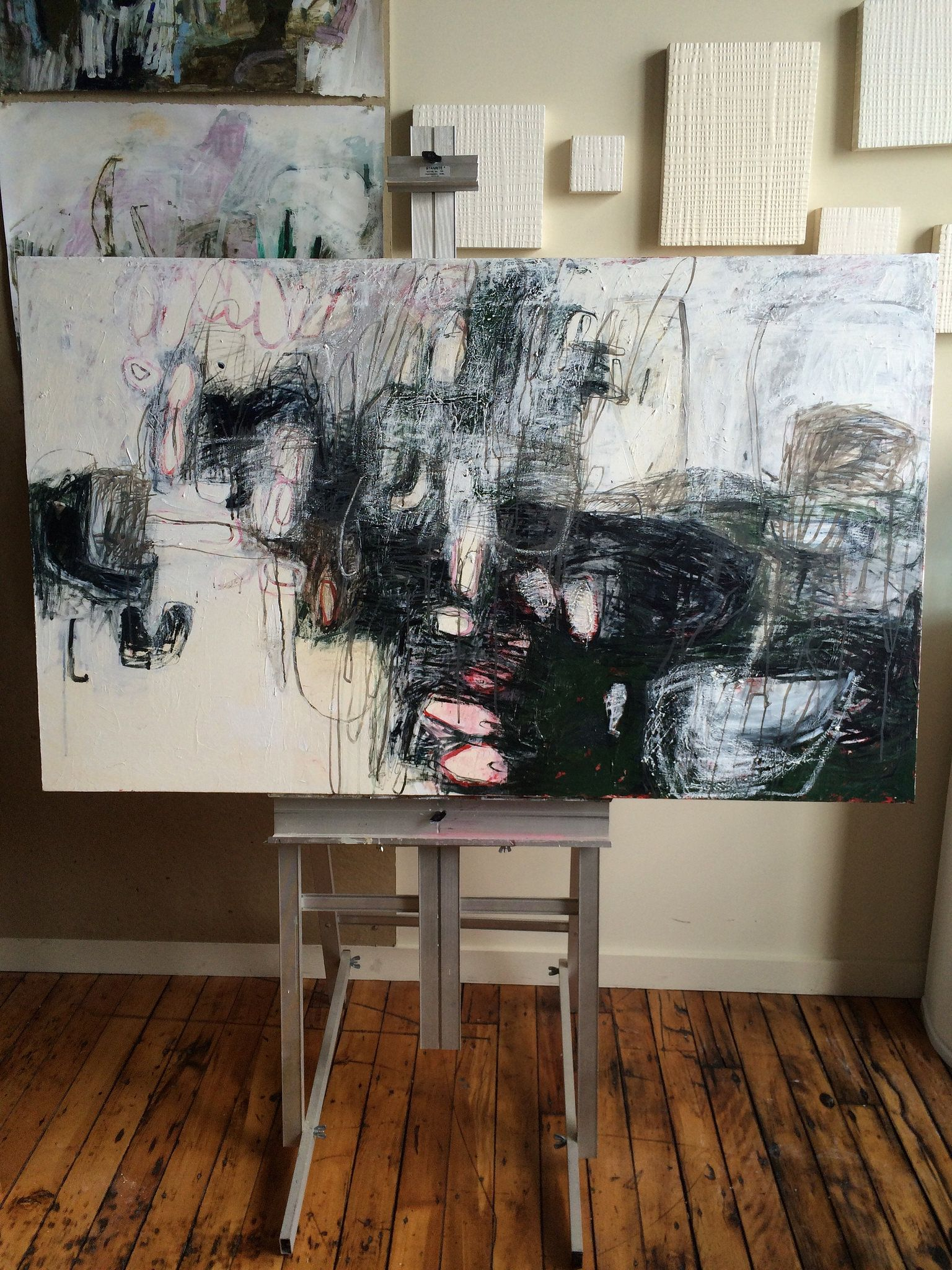 Lari Washburn painting/studio