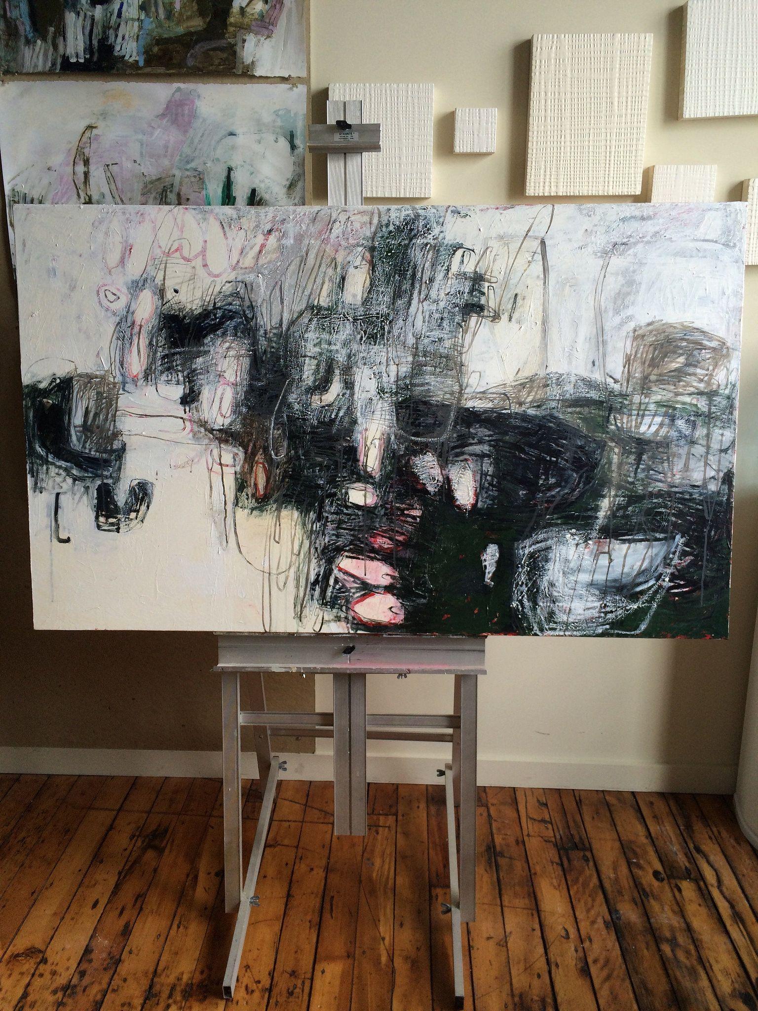 Lari Washburn painting/studio
