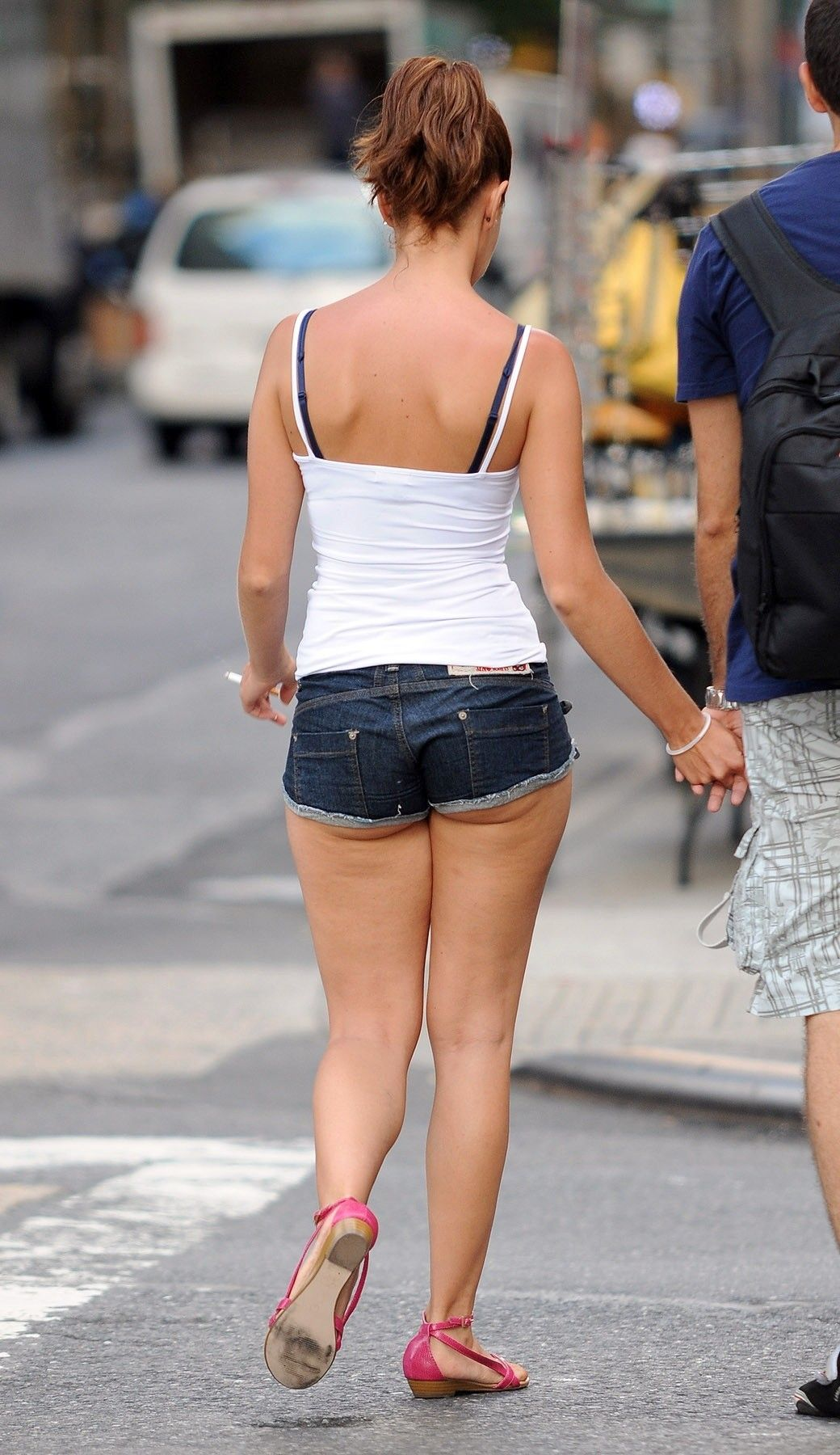 girls shorts jean in Candid tight
