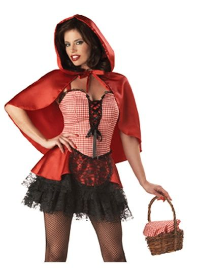 Sexy Gothic Little Red Riding Hood Adult Halloween Costume Future - ladies halloween costume ideas