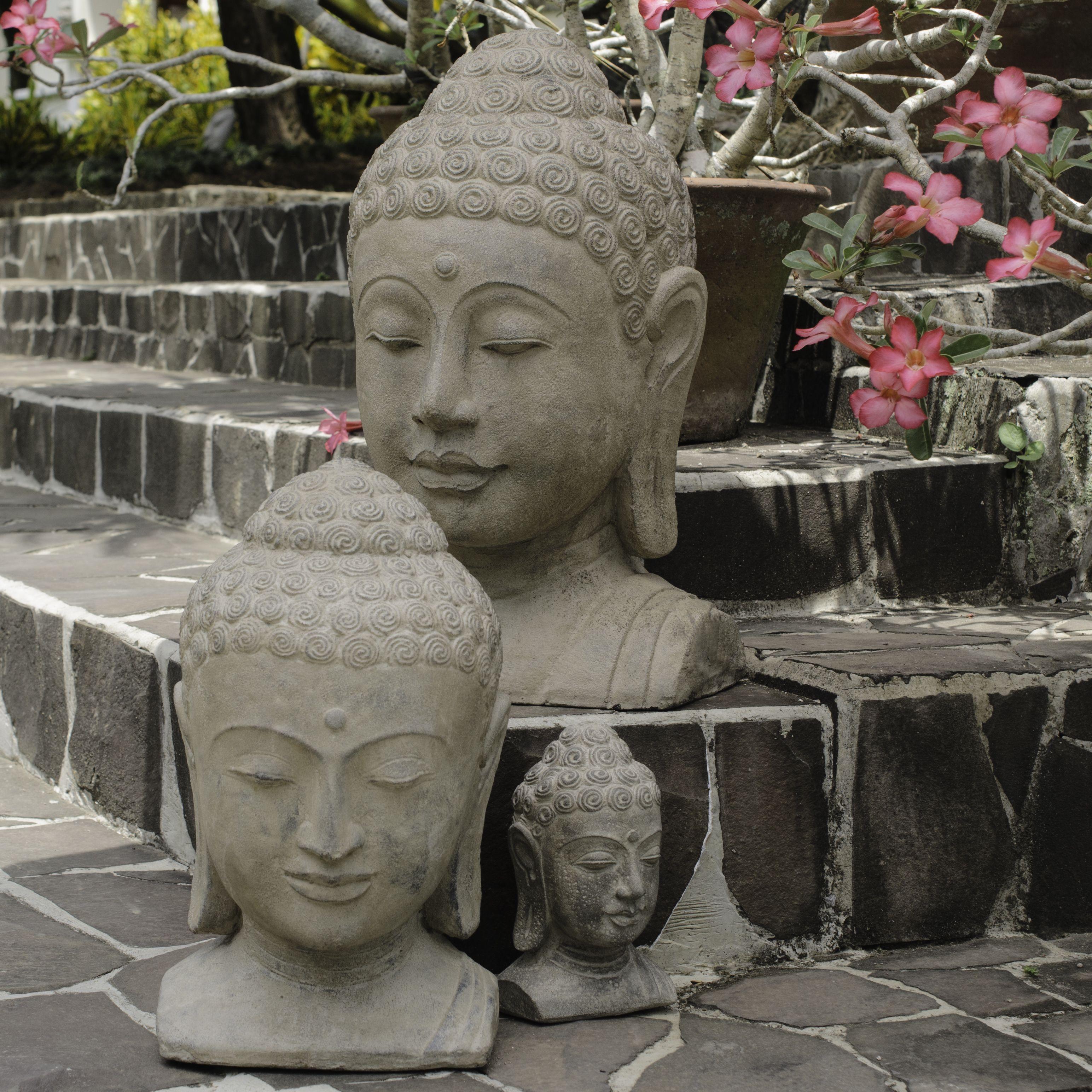 Handmade Volcanic Ash Sovereign Buddha Statue (Indonesia)