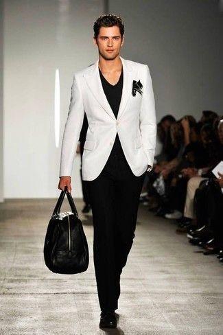 3df5b0c957358 How to Wear a White Blazer (68 looks) | Men's Fashion | Summer Suits ...