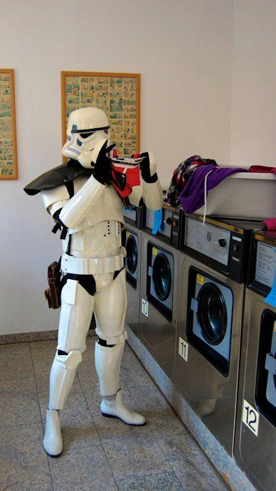 Stormtrooper Laundry - GISHWHES Lawn Party 2013