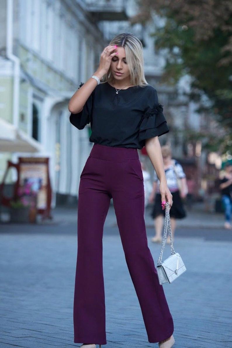 Satin Blouse,Formal Blouse,1940s blouse,Black Blouse,Office Blouse,Elegant Blouse,Prom shirt,...