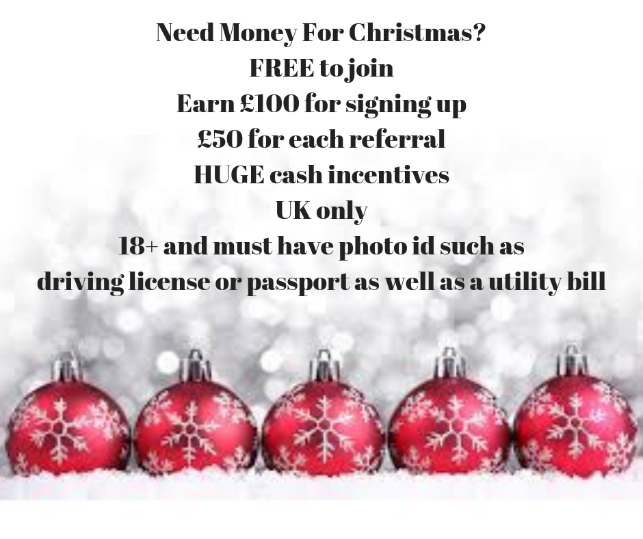 I Want To Help 100 People Get £100 Before Christmas. Hi