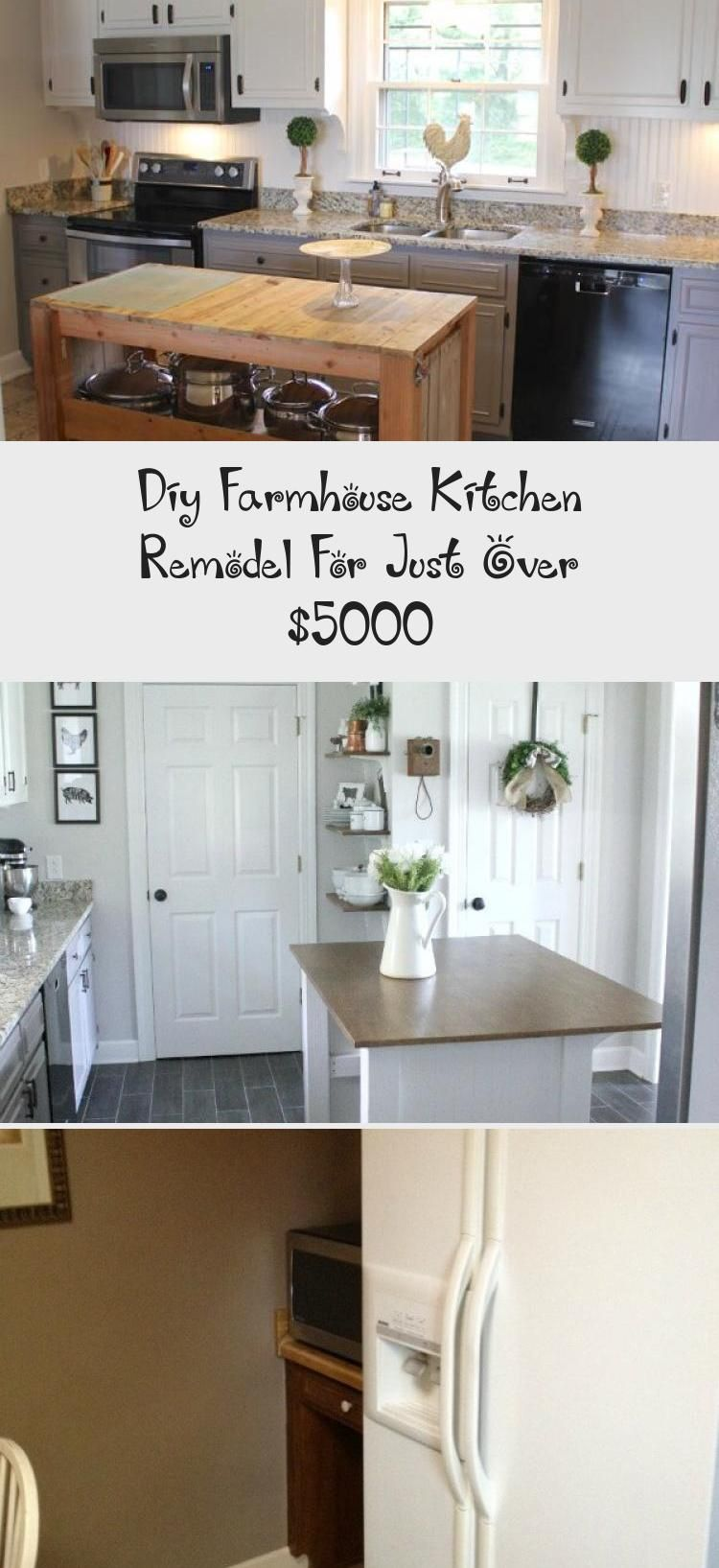 diy farmhouse kitchen remodel for just over 5000 kitchen decor in 2020 farmhouse kitchen on kitchen remodel under 5000 id=46750