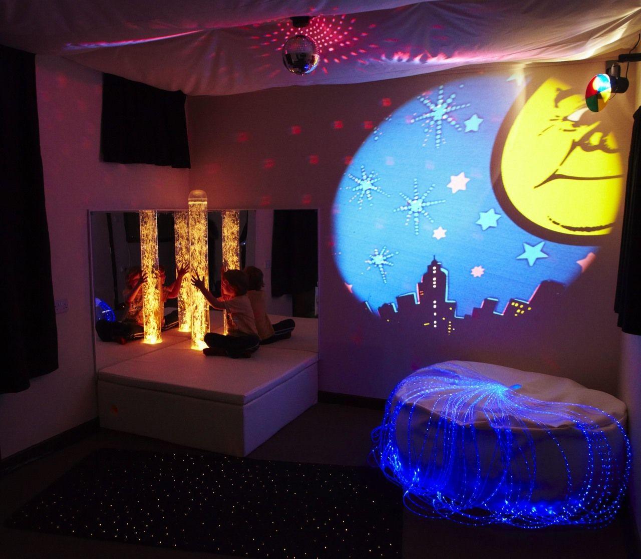 Calming Sensory Room Sensory room autism, Sensory swing
