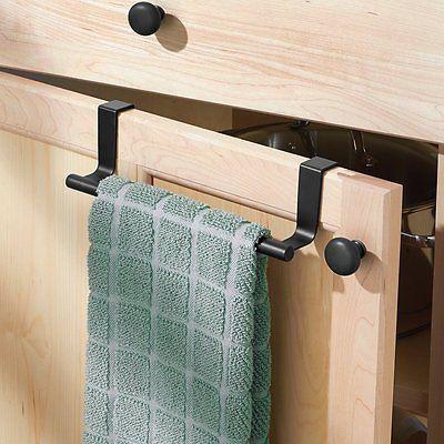Interdesign Forma Over Cabinet Towel Bar 9 Inch Matte Black Towel Bar Bathroom Towel Bar Kitchen Towel Rack