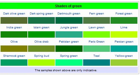 Different Shades Of Green Google Search Watercolor
