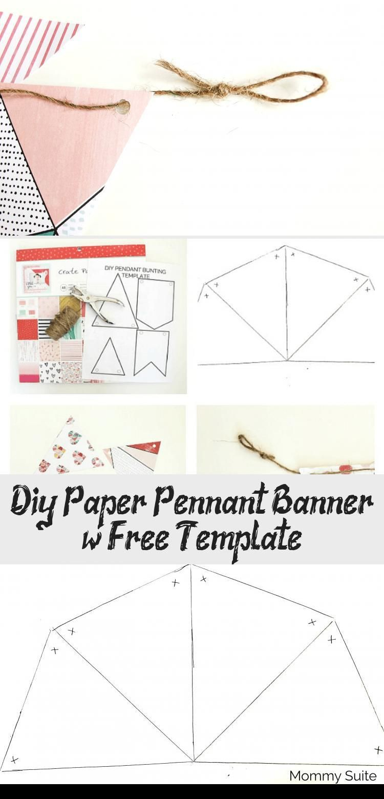 Diy Paper Pennant Banner W Free Template In 2020 Pennant