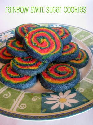 Kids In The Kitchen Rainbow Swirl Sugar Cookies