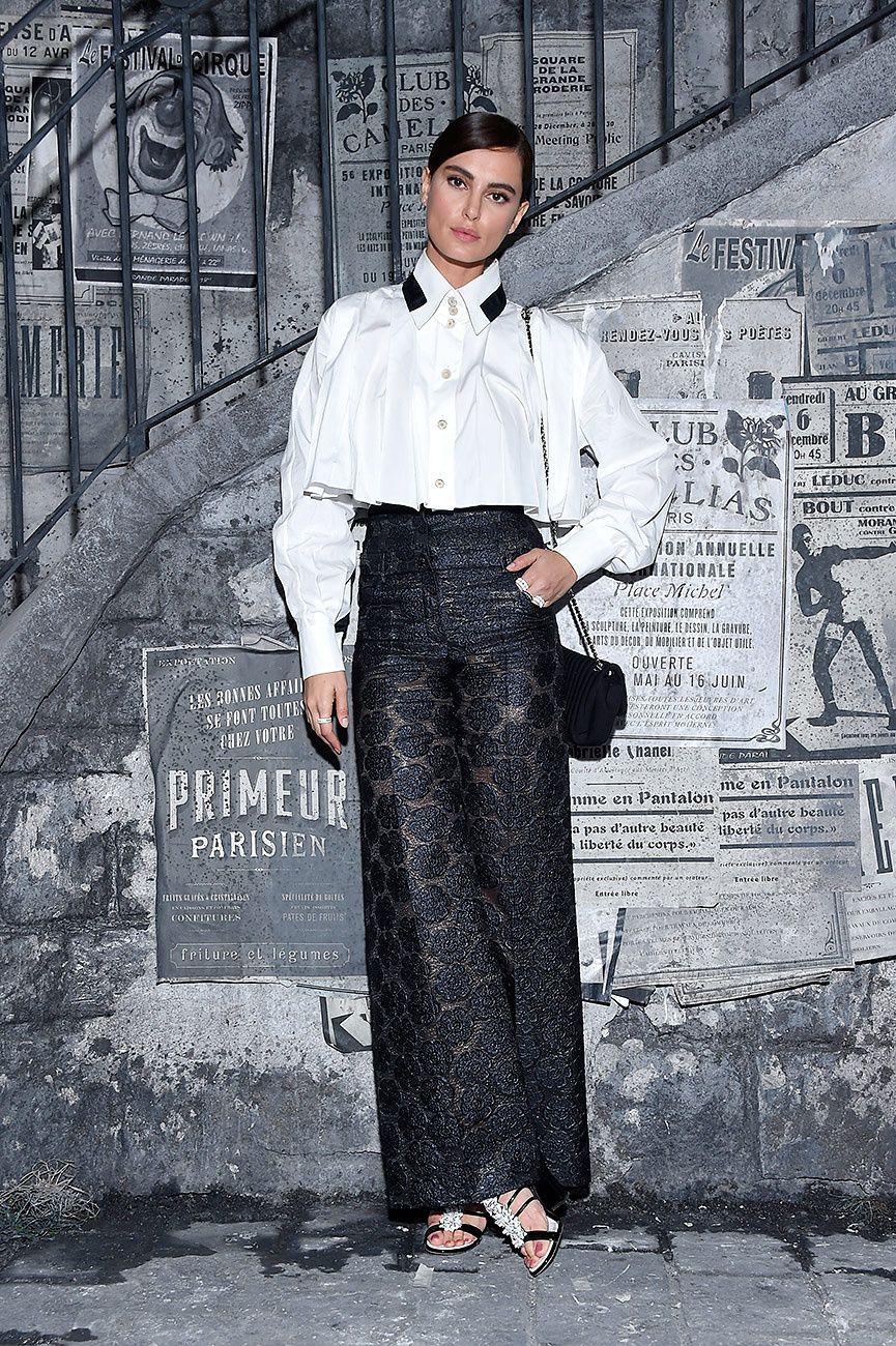 Best dressed:Catrinel Marlon/ front row de Paris in Rome.