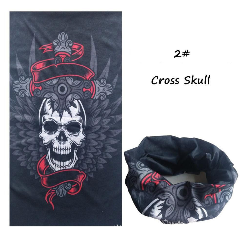 Skull Bicycle Motocycle Sport Turban Magic Headband Veil Kerchief Head Scarf S