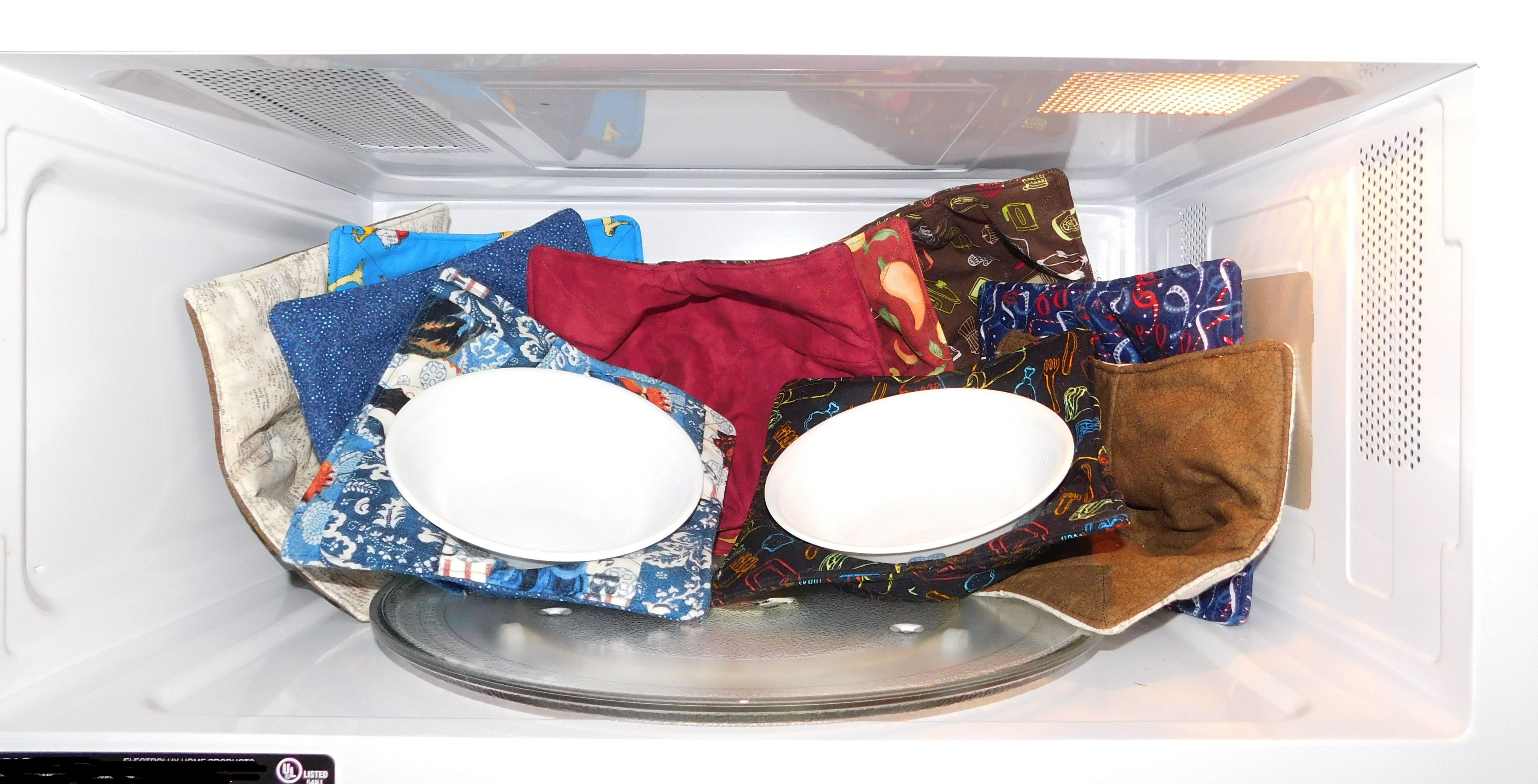 how to sew microwaveable bowl potholders sewing stuff pinterest microwave bowls sewing. Black Bedroom Furniture Sets. Home Design Ideas