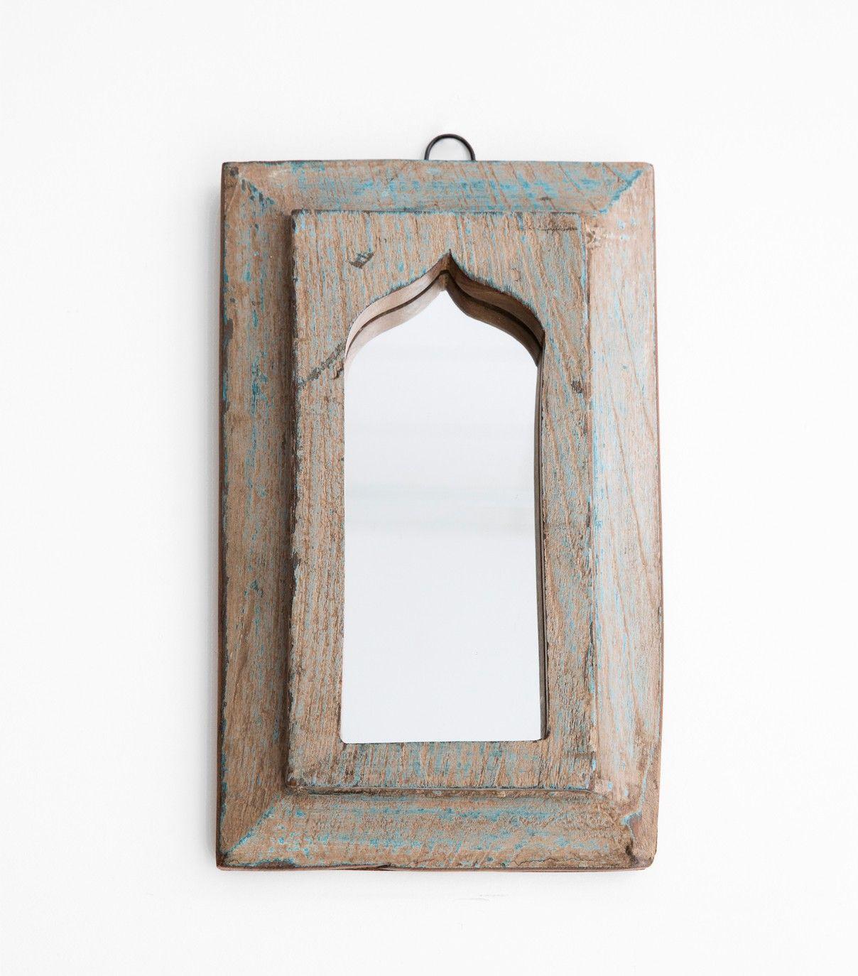 Miroir indien en bois