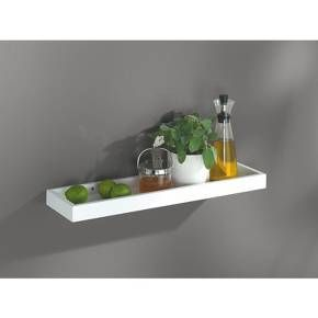 24 X 6 Loggia Shelf With Rim White Dolle Shelving Floating Wall Shelves White White Wall Shelves Floating Shelves