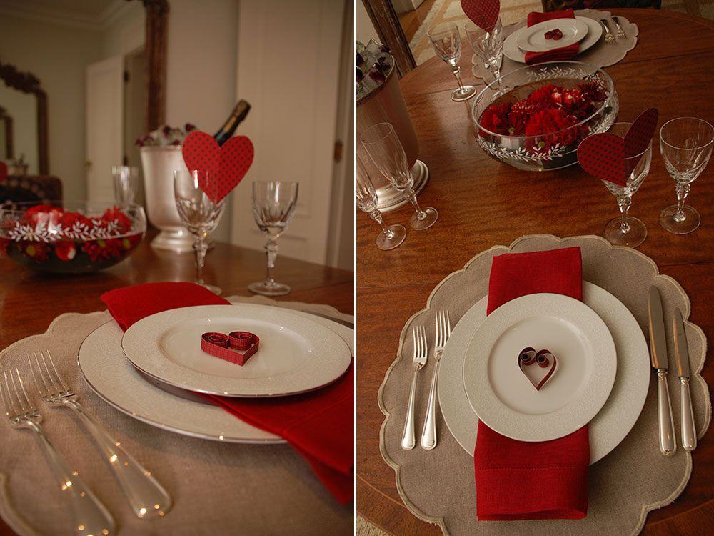 Charming Romantic Table Setting Ideas Part - 12: Romantic Table Set Up. Perfect For Valentine Day.