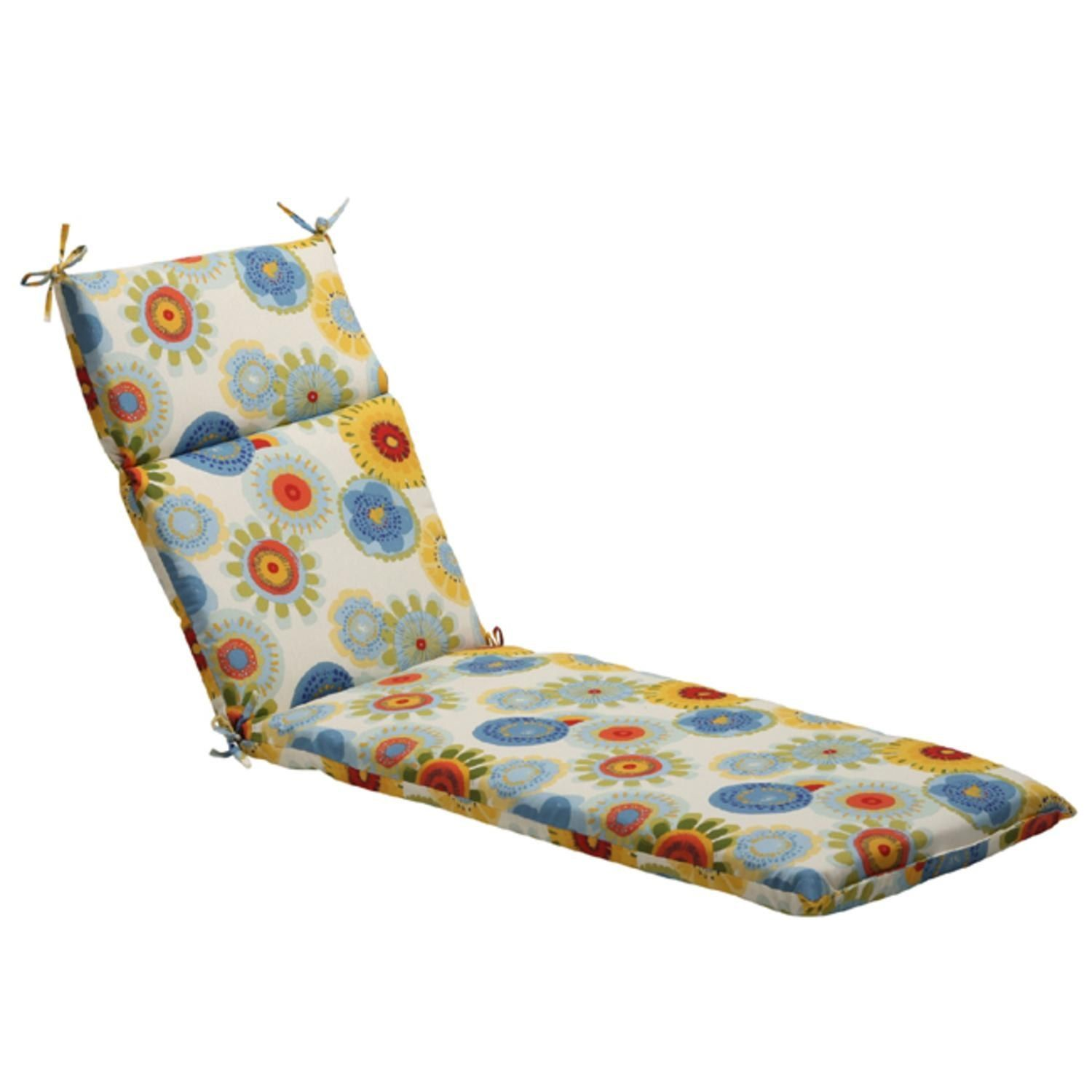 72 5 eco friendly blue multi colored floral outdoor chaise lounge