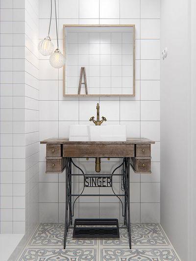 relooking salle de bain 10 bonnes ides relooker meublecustomiser - Customiser Un Meuble De Salle De Bain