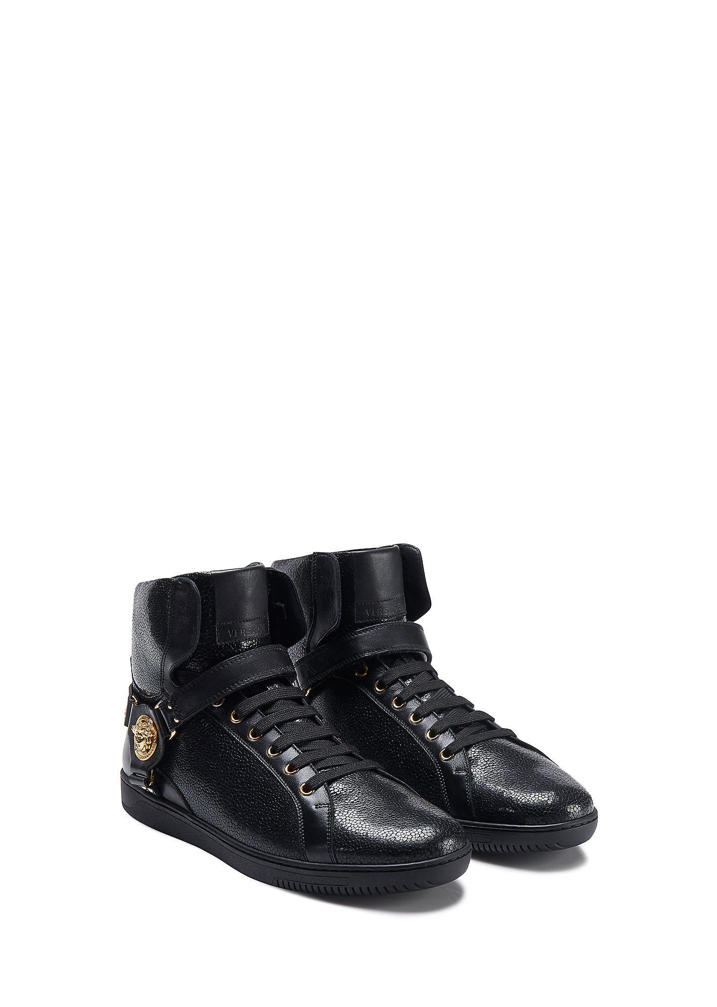 9fc201731669 VERSACE Sting Ray Printed Hi Top.  versace  shoes  sting ray printed ...