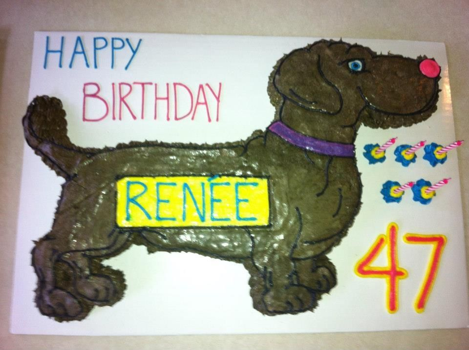 Weenie dog cake i made my mom! Mallory Gray 50 Cakes of