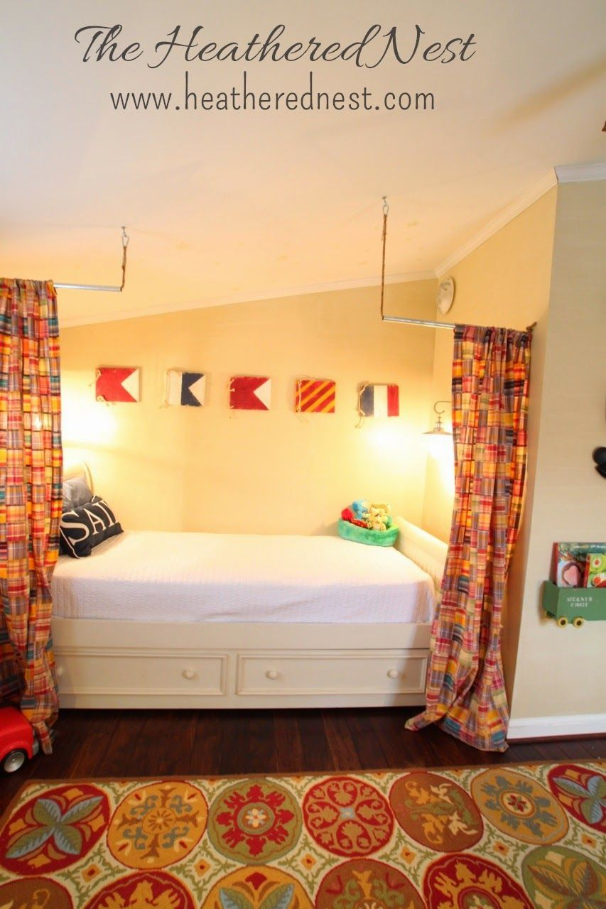 A Nautical Nod & A Cozy Nook (With images) Diy curtains