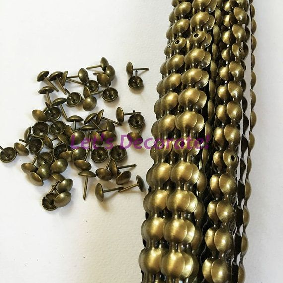 decorative nails for furniture. 1meters 11mm Brass Plated Decorative Nail Strip / Nailing Tape, Sofa Tack, Hobnail, Nails For Furniture